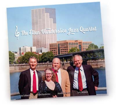 Photo of demo cover featuring Ellen Vanderslice Jazz Quartet